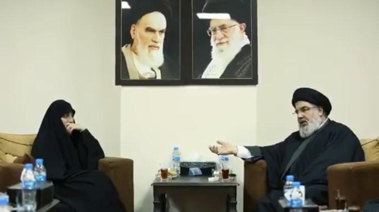 لقاء ابنة قاسم سليماني مع حسن نصر الله يثير تفاعلا في تويتر