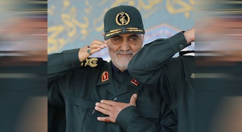 صورة ارشيفية للواء قاسم سليماني قائد فيلق القدس التابع للحرس الثوري في إيران