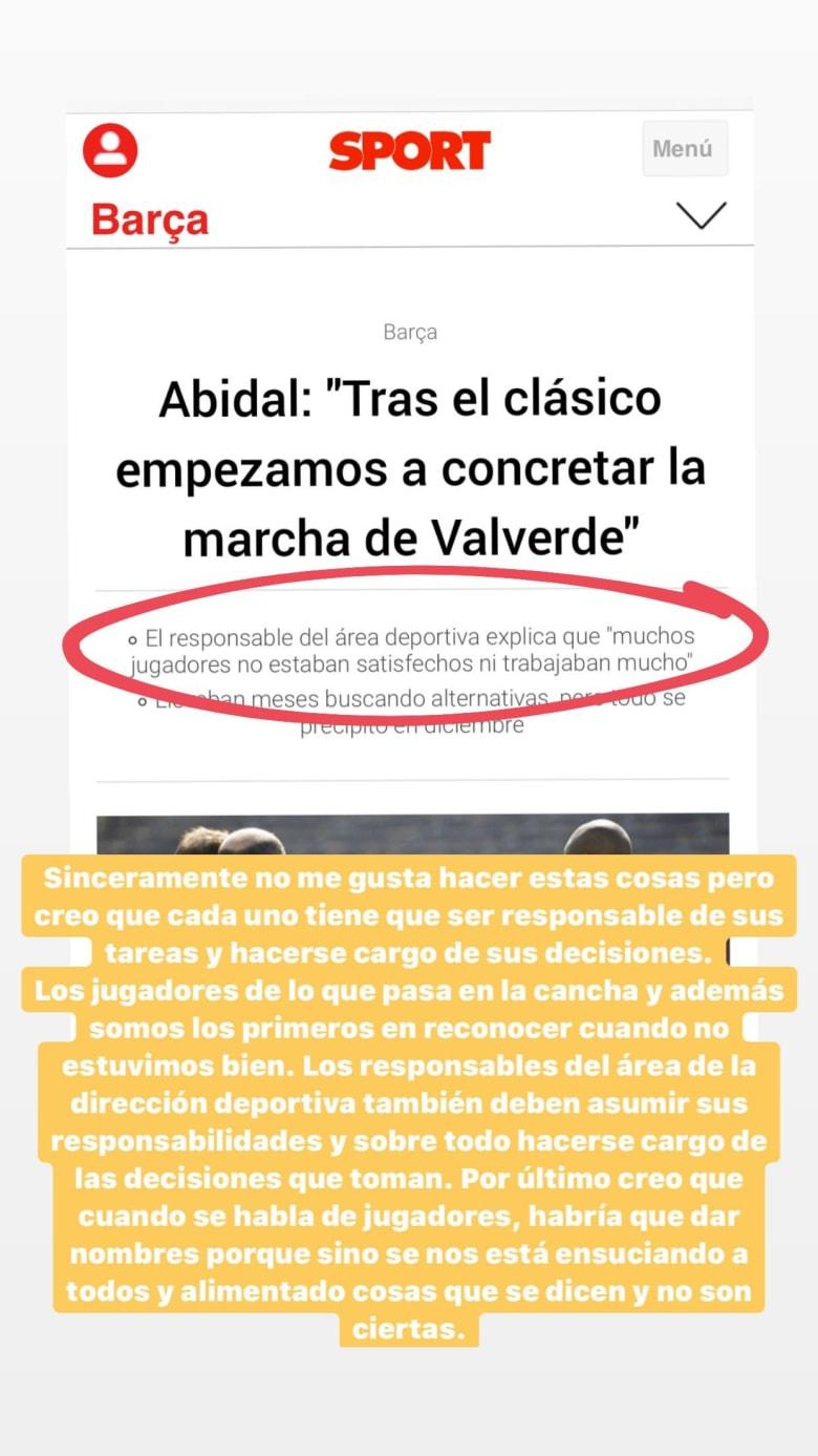 أبيدال يكشف تقاعس لاعبي برشلونة تحت إدارة فالفيردي.. وميسي: أعط أسماء