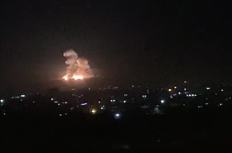 غارة إسرائيلية على مواقع للجيش السوري في دمشق