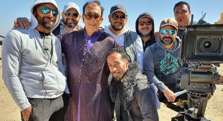 صورة نشرها الممثل محمد خير جراح من كواليس تصوير مسلسل الحرملك