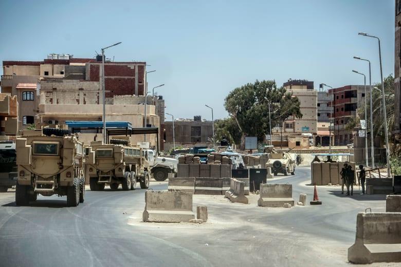أحد الحواجز الامنية في شمال سيناء