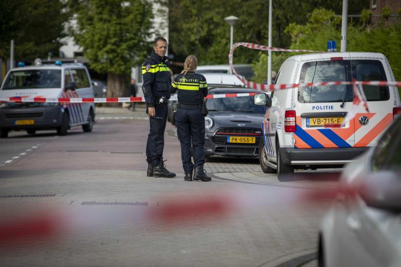 صورة ارشيفية لعناصر بالشرطة في أمستردام التقطت في سبتمبر 2019