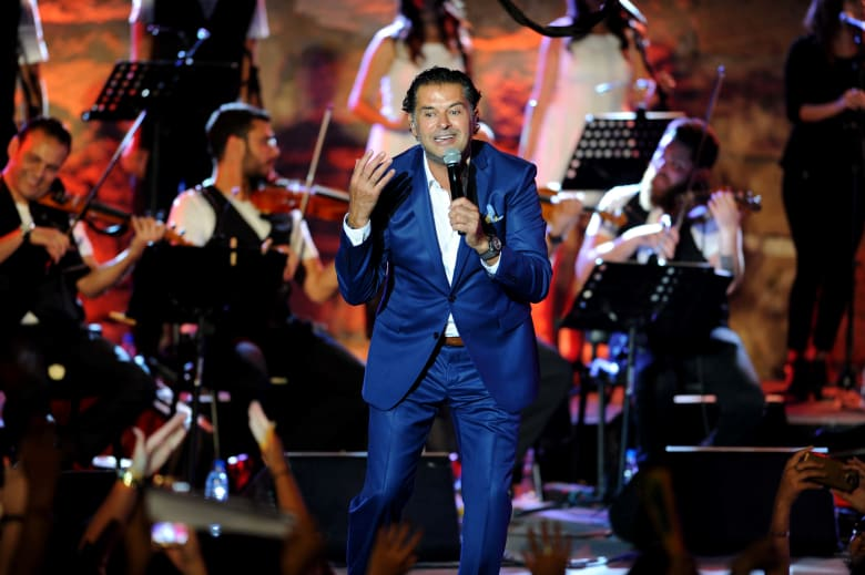 المغني اللبناني راغب علامة خلال الدورة الثالثة والخمسين لمهرجان قرطاج الدولي
