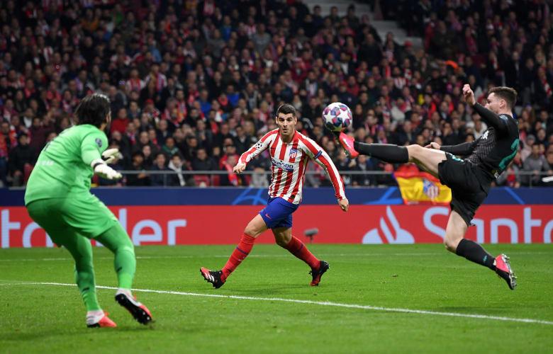 أتليتكو مدريد يوقف قاطرة ليفربول بهدف نظيف في ذهاب ثمن نهائي أبطال أوروبا