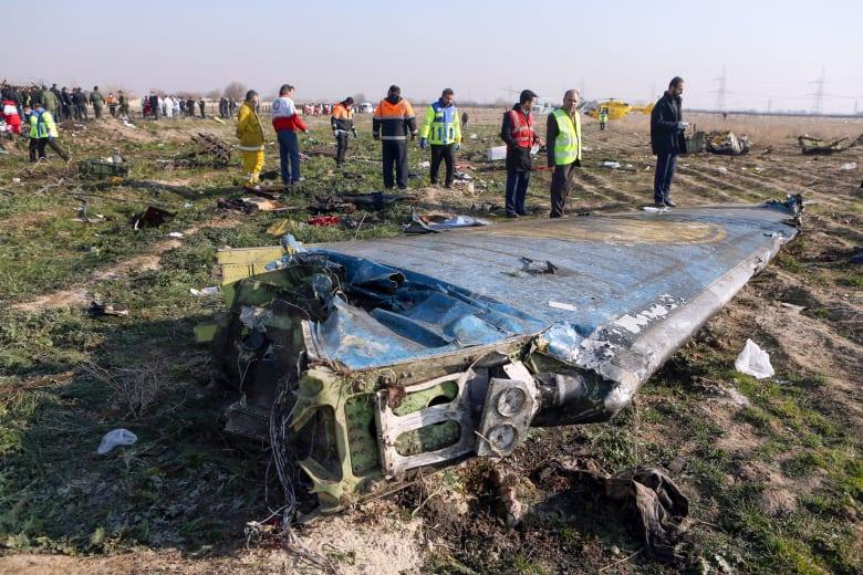 صورة أرشيفية لحظام الطائرة الأوكرانية المنكوبة في إيران