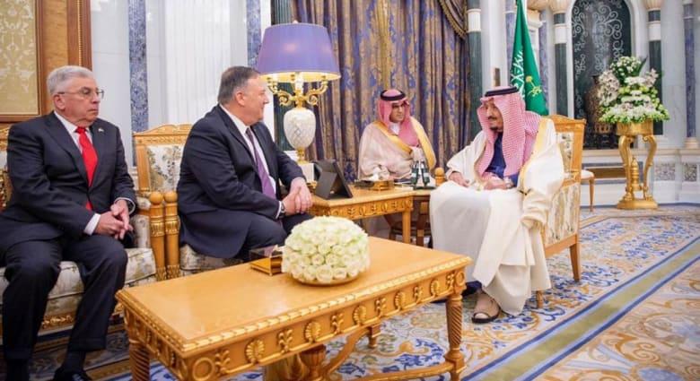 الملك سلمان يلتقي وزير الخارجية الأمريكي مايك بومبيو