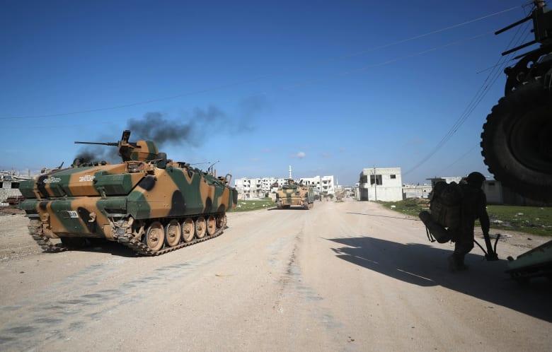 رتل عسكري تركي في محافظة إدلب السورية