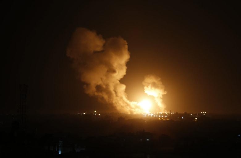 غارات إسرائيلية على مواقع لحركة الجهاد الإسلامي جنوبي قطاع غزة