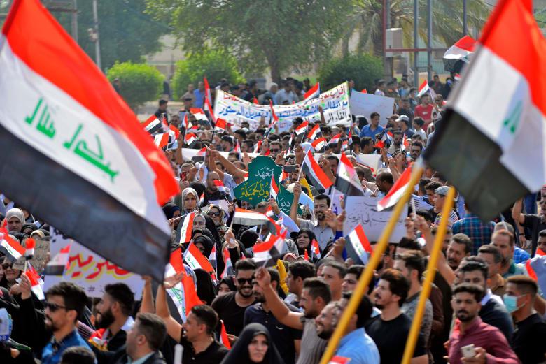 استمرارالمظاهرات في العراق احتجاجًا على تردي وسوء الأوضاع الاقتصادية