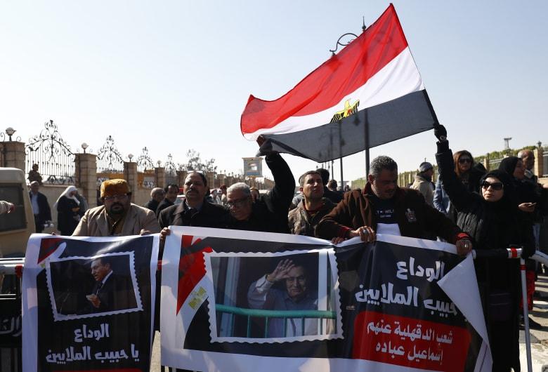 مراسم جنازة الرئيس المصري الأسبق حسني مبارك