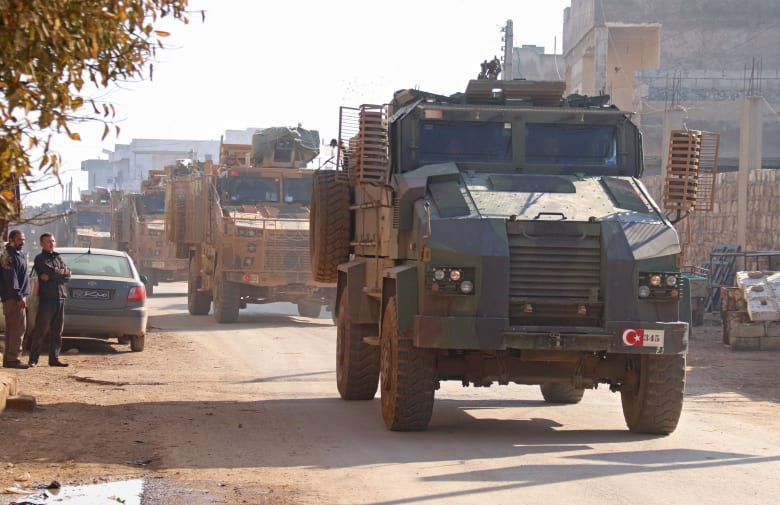 صورة ارشيفية لعربات عسكرية تركية شمال إدلب