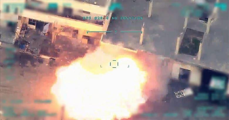"""الجيش التركي ينشر مشاهد جديدة لقصفه """"منشأة كيمائية عسكرية"""" للنظام السوري"""