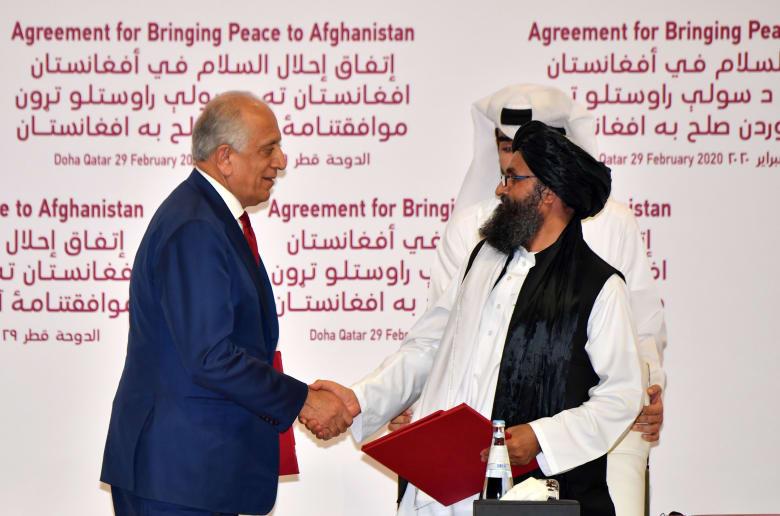 بعد توقيع الاتفاق بين طالبان وأمريكا
