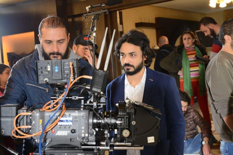 المخرج باسم السلكا أثناء التصوير