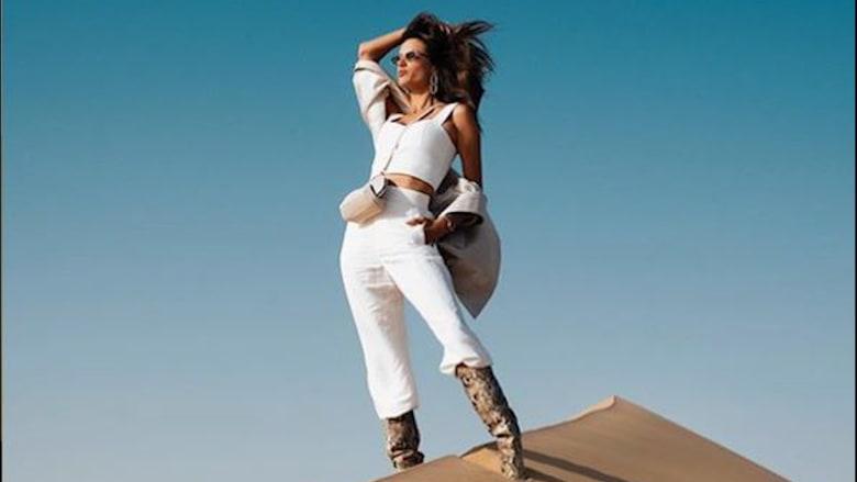 عارضة الأزياء العالمية، أليساندرا أمبروسيو، في أبوظبي