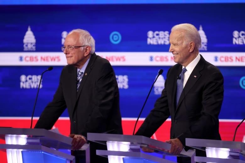جو بايدن وبيرني ساندرز مرشحا الحزب الديمقراطي المحتملان في الرئاسة الأمريكية
