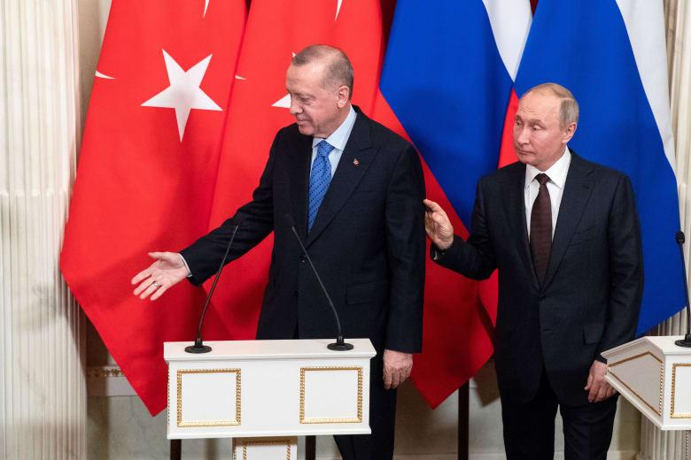 صورة ارشيفية من لقاء بوتين وأردوغان