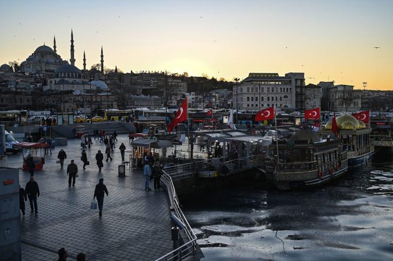 منظر عام من اسطنبول بتركيا
