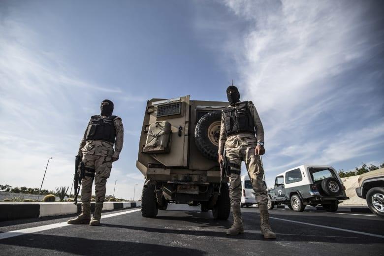 عناصر الجيش المصري خلال تأمين إحدى الفاعليات
