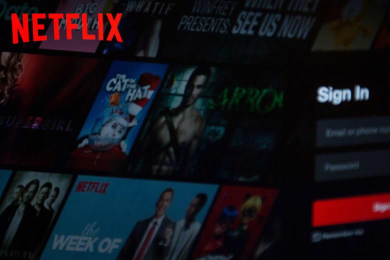 واجهة موقع شبكة Netflix لعرض محتوى ترفيهي عبر الإنترنت