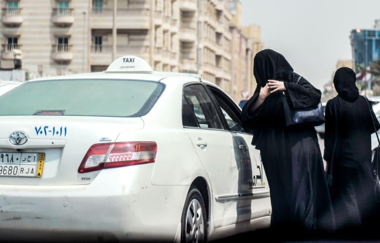 صورة ارشيفية لسيارة أجرة في السعودية