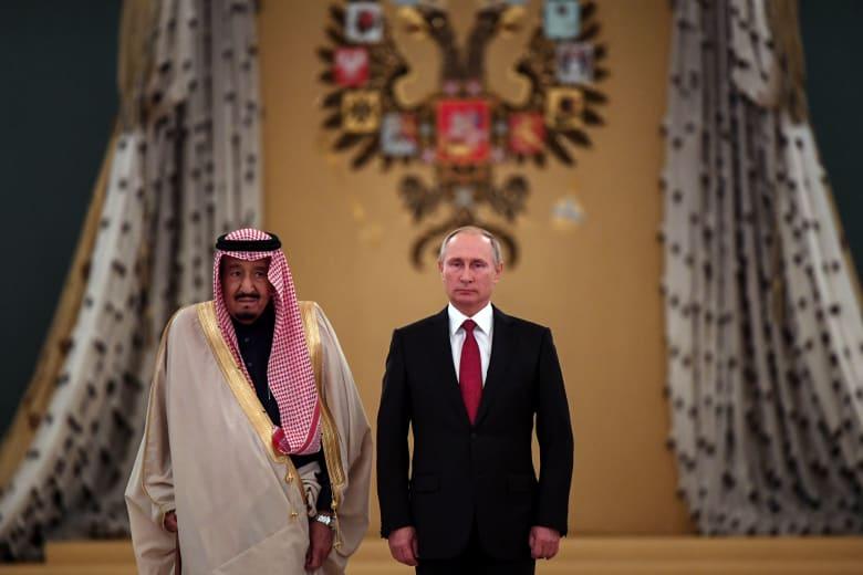 صورة أرشيفية للعاهل السعودي، الملك سلمان والرئيس الروسي، فلاديمير بوتين