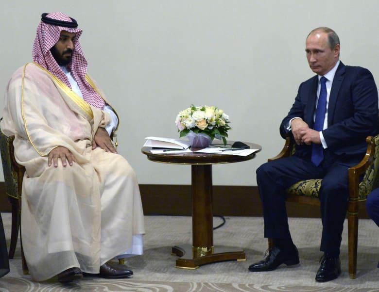 صورة ارشيفية للقاء بين بوتين ومحمد بن سلمان في سوتشي بروسيا العام 2015