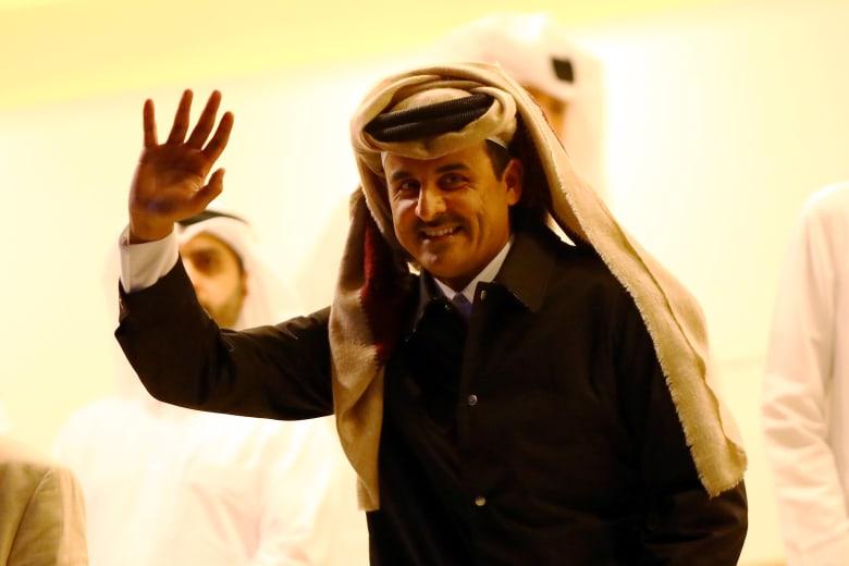 أمير قطر الشيخ تميم بن حمد بصورة من فبراير 2020