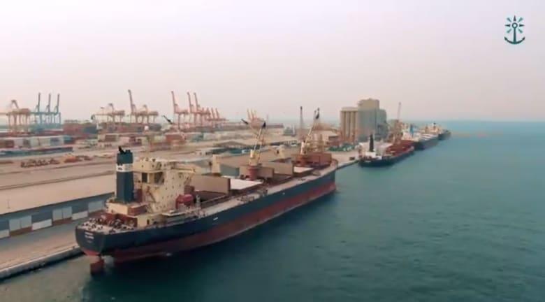 صورة نشرتها الجمارك السعودية ضمن تقرير وتظهر ميناء تجاريا في المملكة