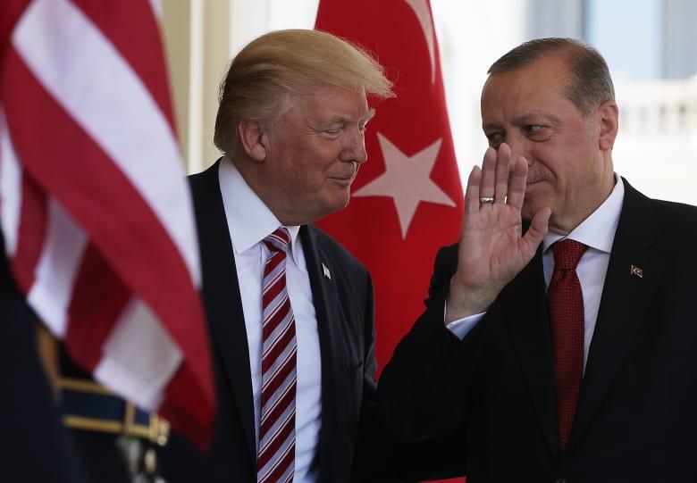 صورة ارشيفية من زيارة أردوغان لأمريكا ولقاء ترامب العام 2017