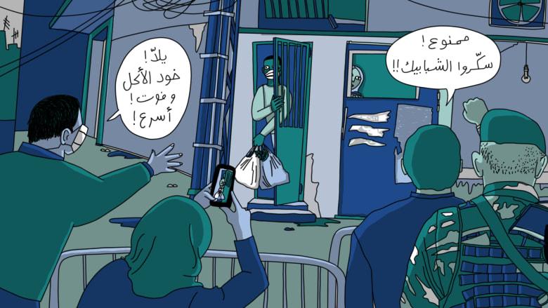 صورة تعبيرية عن معاناة العمال المهاجرين في لبنان بظل جائحة كوفيد-19
