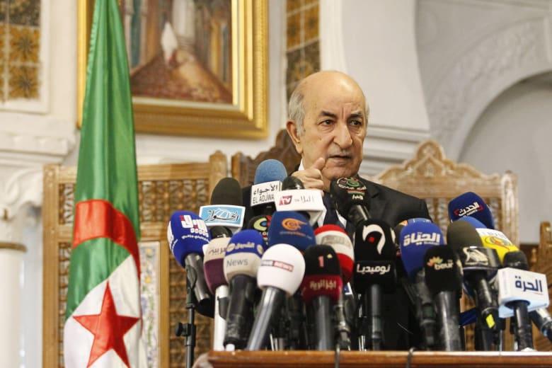 """الرئيس الجزائري: لا نبارك """"الهرولة"""" نحو التطبيع مع إسرائيل"""