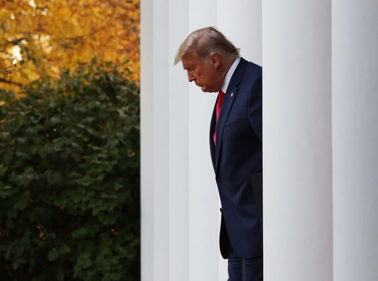 """للمرة الأولى.. ترامب يعترف بفوز بايدن في الانتخابات.. ويستدعي """"نظريات مؤامرة"""" كسبب لخسارته"""