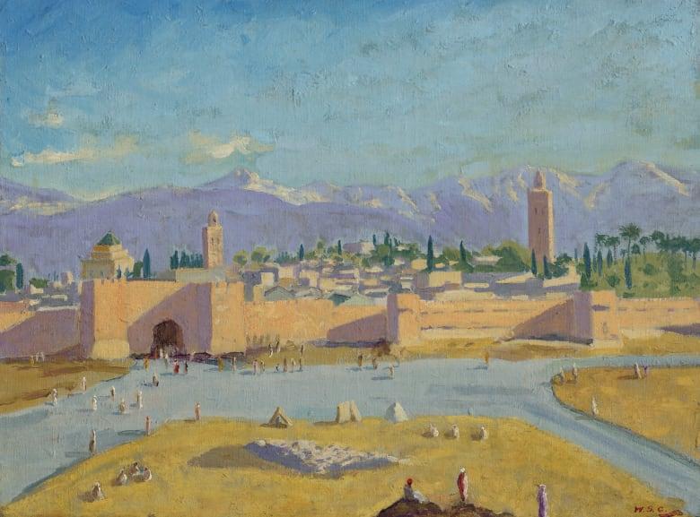 تبيع أنجلينا جولي اللوحة الوحيدة التي رسمها ونستون تشرشل في زمن الحرب، والتي أهداها لها براد بيت
