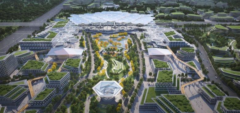 """بمبانٍ تشبه حقول الأرز..كيف ستبدو """"مدينة المستقبل"""" الجديدة في الصين؟"""