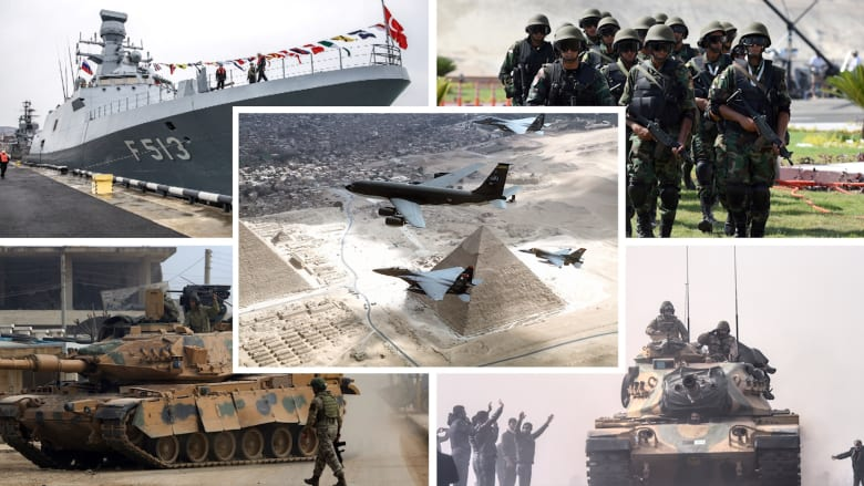 بين جيشي مصر وتركيا.. أيهما يحتل تصنيفات عسكرية أعلى وفق إحصائية 2021؟