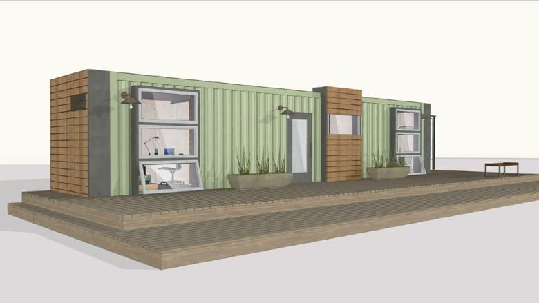 جنرال موتورز تصنع شقة بغرفتين من حاوية للشحن