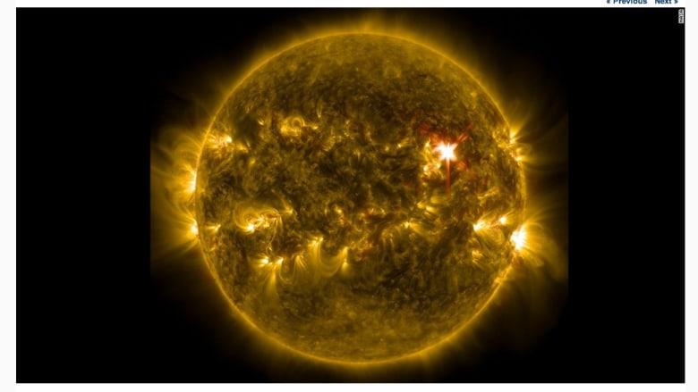 صورة بالأشعة فوق البنفسجية للشمس من وكالة ناسا ملتقطة في 7 مايو/أيار.