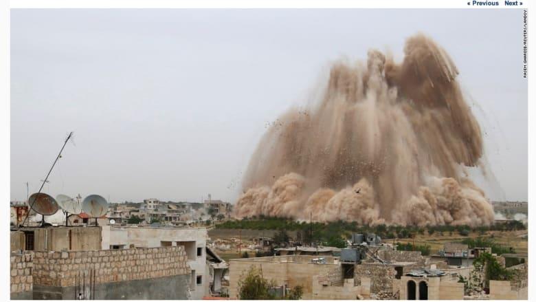 انفجار في نقطة تفتيش في معرة النعمان بسوريا.