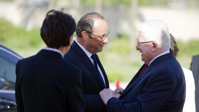 أولاند للرئيس العراقي: ندعمكم لأنكم  تواجهون عدواً لا يعترف بالحدود