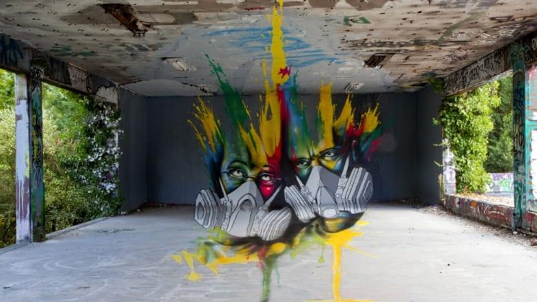 ليست أجساماً ملموسة.. بل لوحات تلاعب فنانونها بأبعادها لتبدو حقيقية
