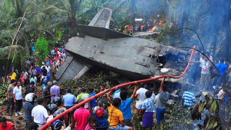 تحطم طائرة عسكرية في سريلانكا