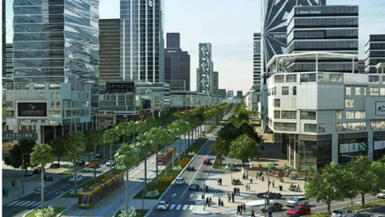 مخطط للمركز المالي بالمدينة