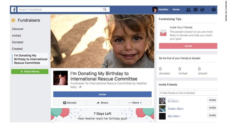 """""""تبرّع"""" بعيد ميلادك لجهة خيرية عبر """"فيسبوك"""""""