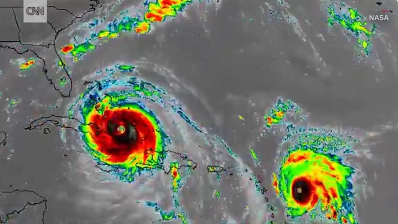 فيديو لتحرك الإعصار إرما خلال 10 أيام في 30 ثانية