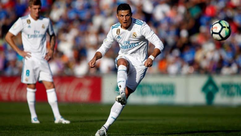 """بعد غياب 8 جولات.. رونالدو يسجل في """"الليغا"""" ويقود ريال مدريد لفوز صعب"""