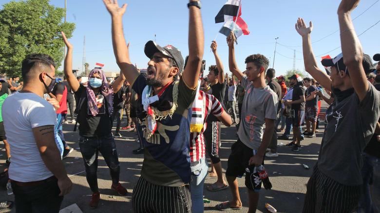 مظاهرات العراق.. 73 قتيلا للآن وحيدر العبادي يوجه رسالة بـ17 مقترحا