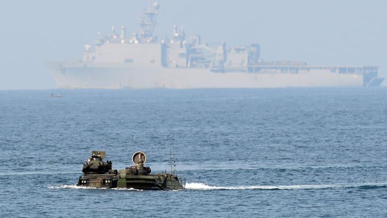 تواصل عمليات البحث عن 8 مفقودي البحرية الأمريكية خلال تدريب في كاليفورنيا