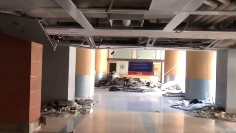 كاميرا CNN ترصد الدمار في مستشفى القديس جاورجيوس بعد انفجار مرفأ بيروت
